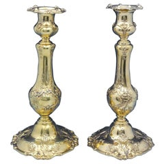 Francis I by Reed and Barton Sterling Silver Candlestick Pair Vermeil