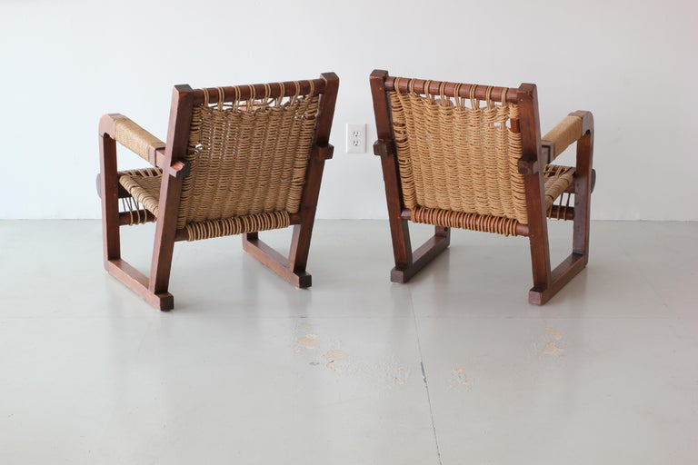 Francis Jourdain Attributed Chairs In Fair Condition For Sale In Los Angeles, CA