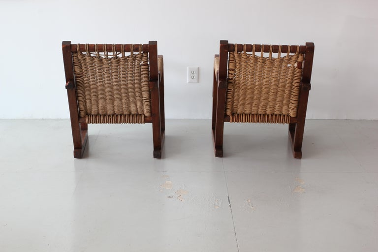Oak Francis Jourdain Attributed Chairs For Sale
