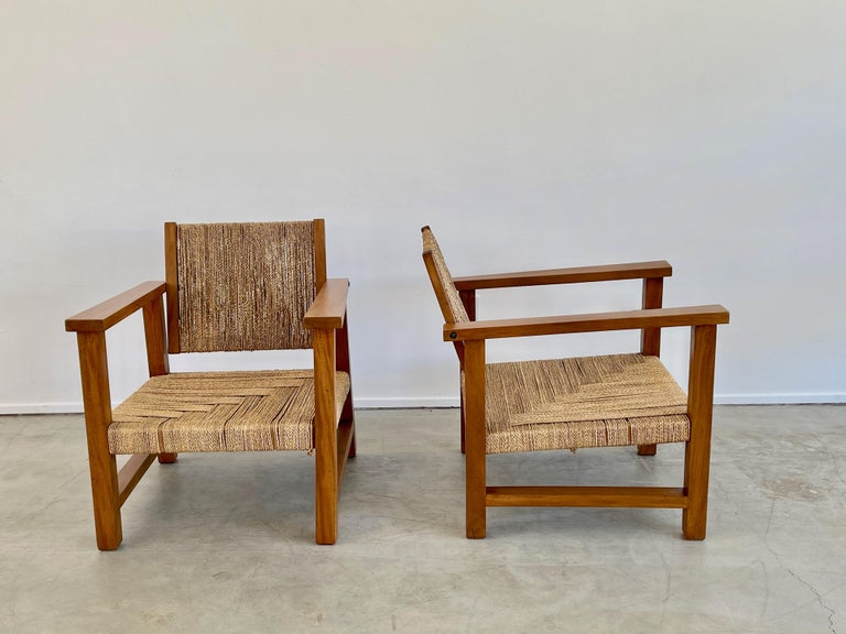 Rope Francis Jourdain Chairs For Sale