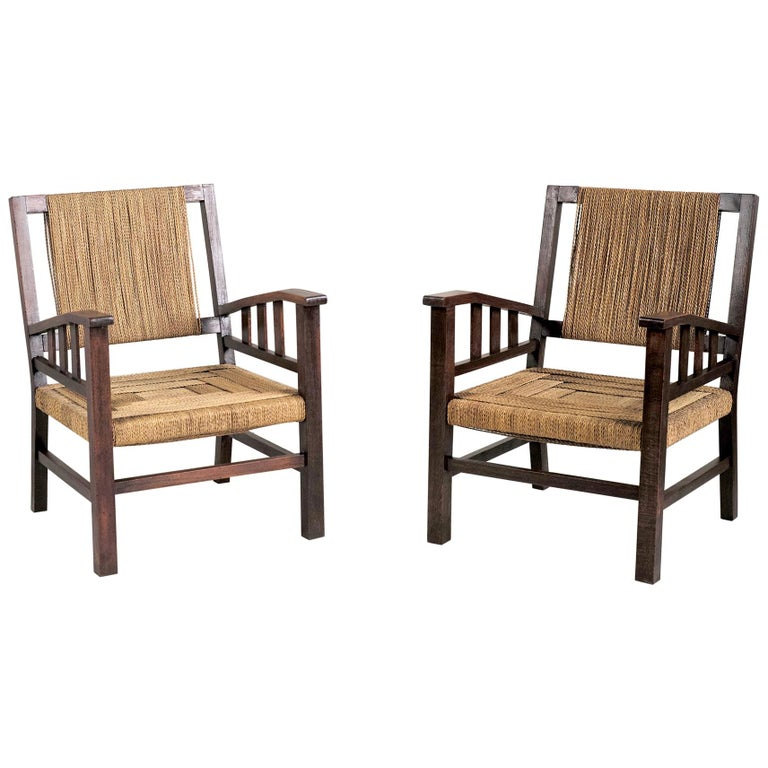 Francis Jourdain Pair Of Armchairs France 1930 At 1stdibs
