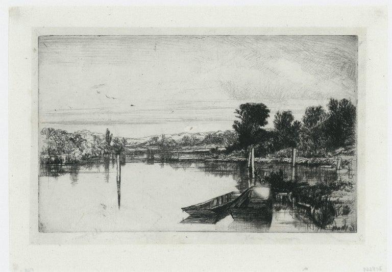 Egham - Print by Sir Francis Seymour Haden, R.A.