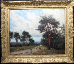Cornish Flock - British art 20's landscape oil painting female St Ives artist
