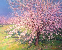 Contemporary Rural Landscape 'Orchard Blossom' by Francisco Calabuig