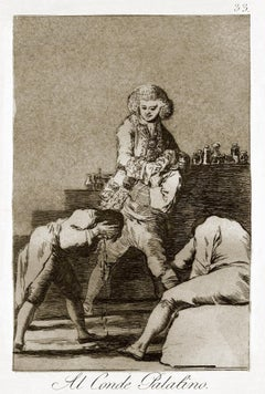Al Conde Palatino - Origina Etching by Francisco Goya - 1868