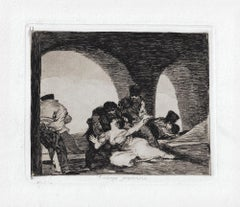 Amarga Presencia  - Original Etching by Francisco Goya - 1863