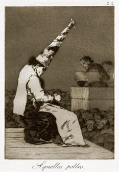 Aquellos Polvos - Original Etching by Francisco Goya - 1868