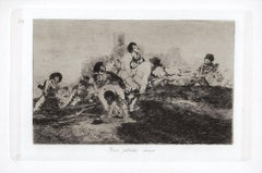 Aun podran servir  - Original Etching by Francisco Goya - 1863