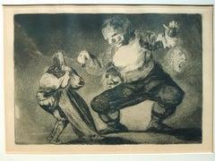 Bombalicòn - Original Etching by Francisco Goya - 1902