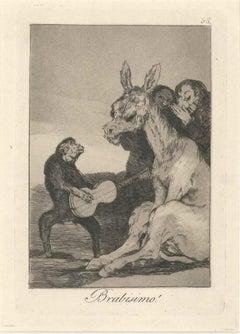Brabisimo! - Origina Etching and Aquatint by Francisco Goya - 1881/1886