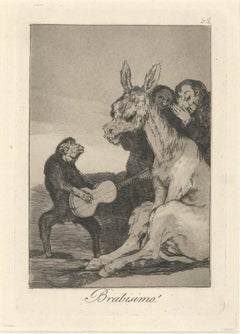 Brabisimo! - Origina Etching and Aquatint by Francisco Goya - 1881/1886
