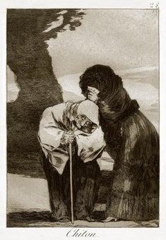 Chiton  - Origina Etching by Francisco Goya - 1868