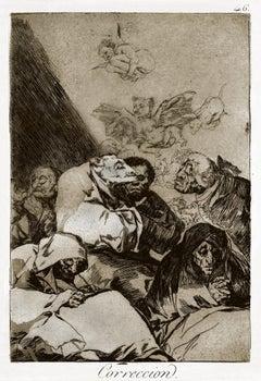 Correccion  - Origina Etching and Aquatint by Francisco Goya - 1868