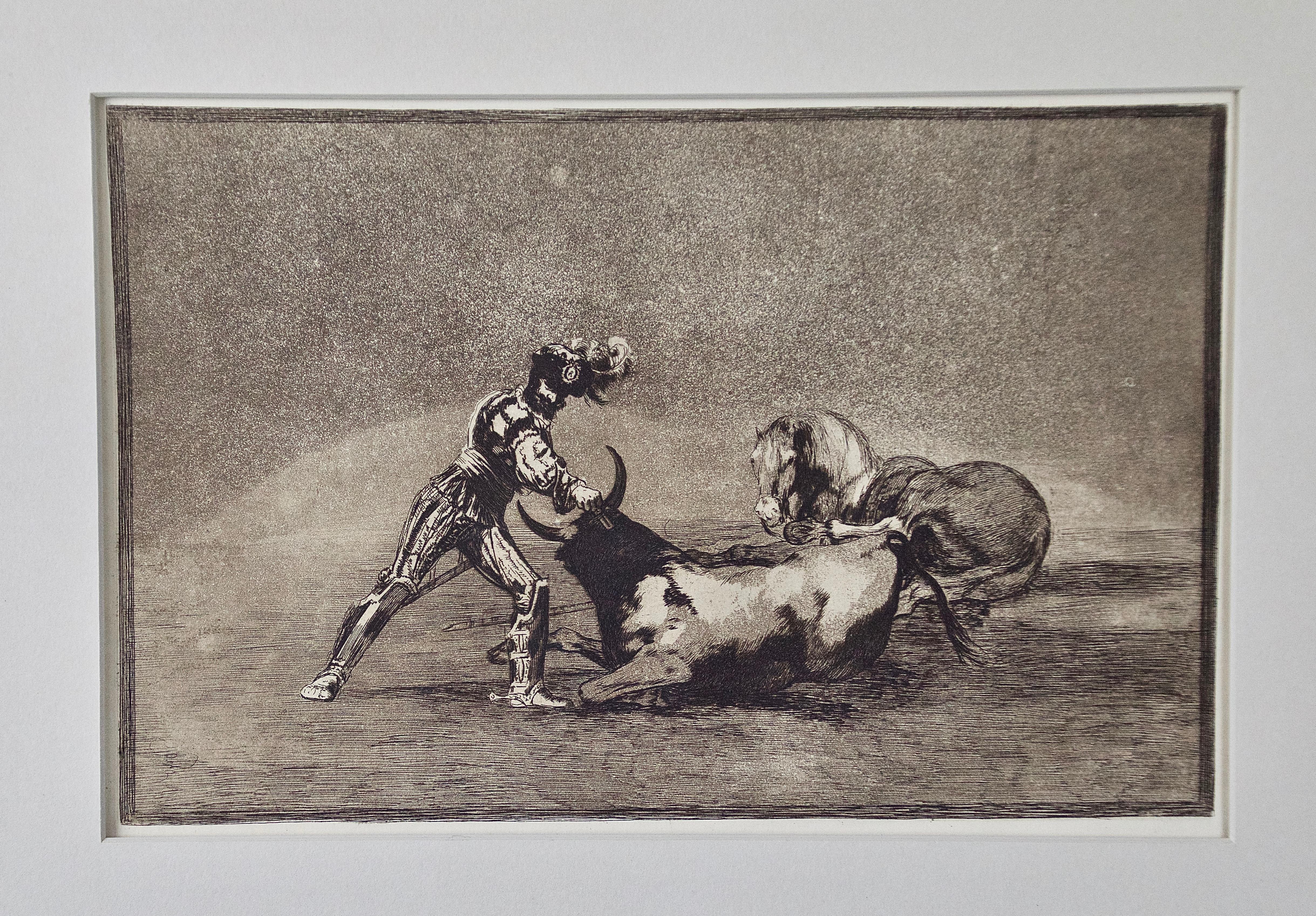 """de Goya's """"Un caballero español mata un toro"""" from his Bullfighting Series"""