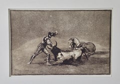 "de Goya's ""Origen de los arpones o banderillas"" from his Bullfighting Series"