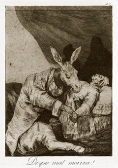 ¿De qué mal morirá?   - Origina Etching and Aquatint by Francisco Goya - 1868