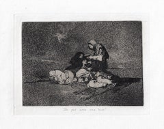 De que Sirvé una Taza?   - Original Etching by Francisco Goya - 1863