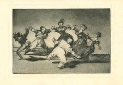 Disparate Alegre  - Original Etching - 1875