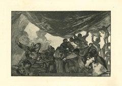 Disparate Claro  - Original Etching - 1875