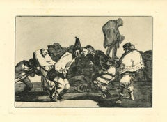 Disparate de Carnaval  - Original Etching - 1875
