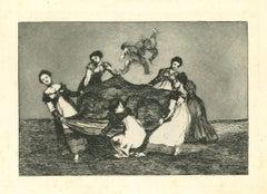 Disparate Feminino - Original Etching - 1875