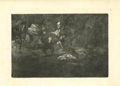 Disparate Fúnebre - Original Etching - 1875
