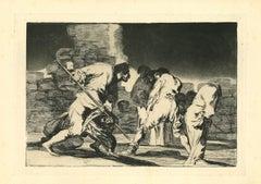 Disparate Furioso - Original Etching - 1875