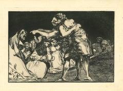 Disparate Matrimonial - Original Etching - 1875
