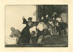 Disparate Pobre  - Original Etching - 1875