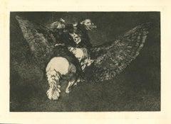 Disparate Volante - Original Etching - 1875