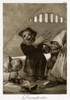 Duendecitos  - Origina Etching and Aquatint by Francisco Goya - 1868