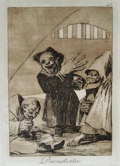 Duendecitos - Original Etching by Francisco Goya - 1881