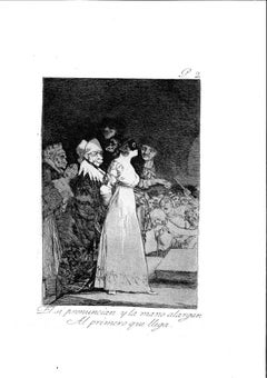 El si Pronuncian y la Mano [...] - Original Etching by Francisco Goya - 1799