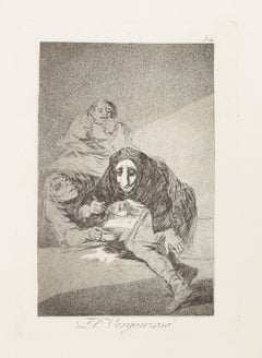El Vergonzoso (Plate 54) (Los Caprichos Series)