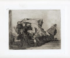 Esta no lo es Menos  - Original Etching by Francisco Goya - 1863