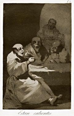 Estan Calientes - Original Etching by Francisco Goya - 1868