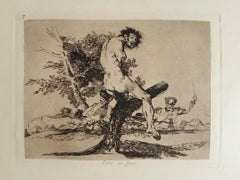 Esto es Peor   - Original Etching by Francisco Goya - 1863
