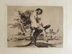 Esto es Peor   - Original Etching by Francisco Goya - 1863