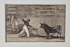 "Goya's ""Origen de los arpones o banderillas"" from his Bullfighting Series"