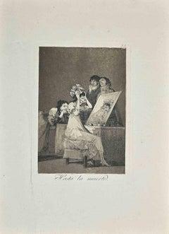 Hasta la Muerte - Original Print by Francisco Goya - Early 20 century