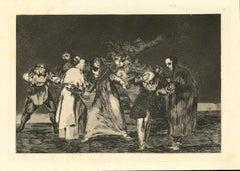 Las Exhortaciones  - Original Etching - 1875