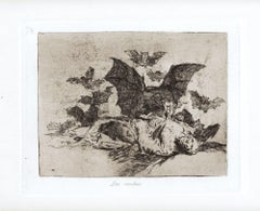 Las Resultas - Original Etching by Francisco Goya - 1863