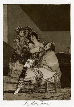 Le Descañona - Origina Etching by Francisco Goya - 1868