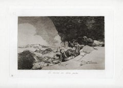 Lo Mismo en Otras Partes   - Original Etching by Francisco Goya - 1863