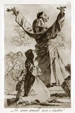 Lo que puede un Sastre! - Original Etching by Francisco Goya - 1868 (1799)