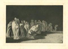 Los Ensacados - Original Etching - 1875