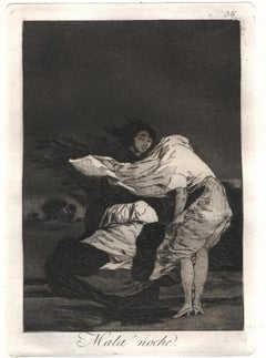 Mala Noche - Original Etching and Aquatint by Francisco Goya - 1799