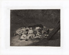 Muertos Recogidos - Original Etching by Francisco Goya - 1863