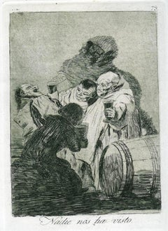 Nadie Nos Ha Visto - Origina Etching and Aquatint by Francisco Goya - 1881-1886