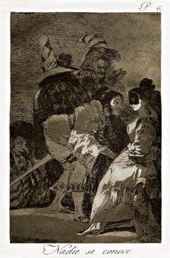 Nadie se conoce - Origina Etching by Francisco Goya - 1868